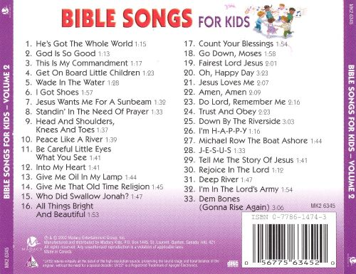 Bible Songs for Kids, Vol. 2
