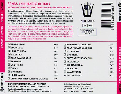 Songs & Dances of Italy