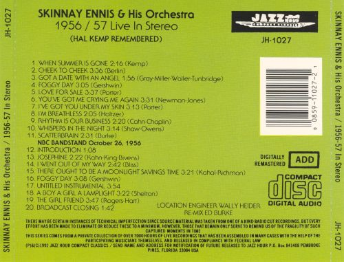 1956-1957 Live in Stereo (Hal Kemp Remembered)