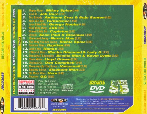 Reggae Hits, Vol. 35 [Bonus DVD]