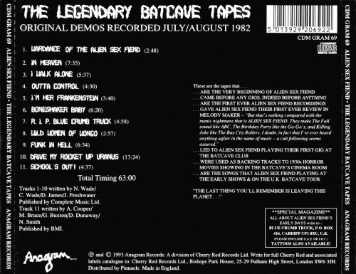 The Legendary Batcave Tapes