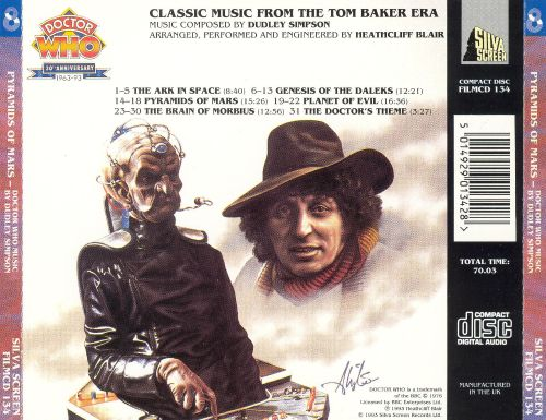 Doctor Who: Pyramids of Mars, Classic Music from the Tom Baker Era