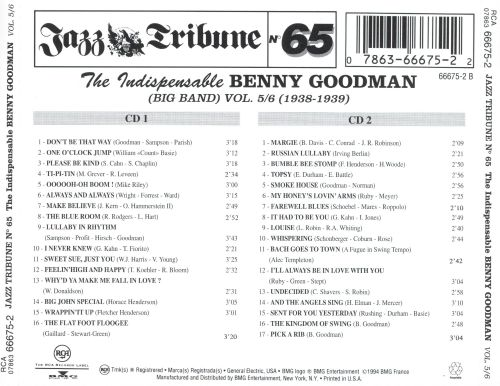 The Indispensable Benny Goodman, Vol. 5-6