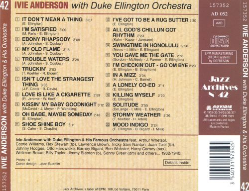 Ivie Anderson With Duke Ellington & His Famous Orchestra [EPM]