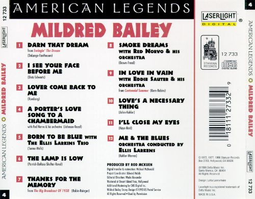 American Legends No. 4: Mildred Bailey