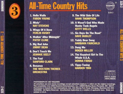 All-Time Country Hits, Vol. 3