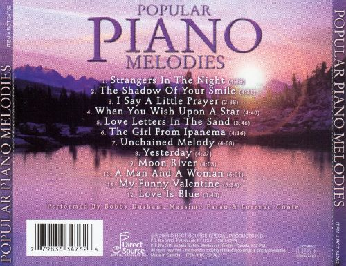 Popular Piano Melodies