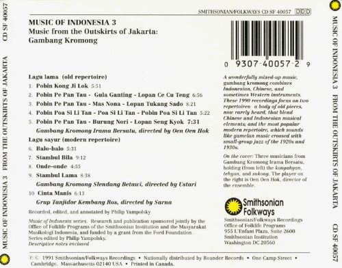 Music of Indonesia, Vol. 3: The Outskirts of Jakarta