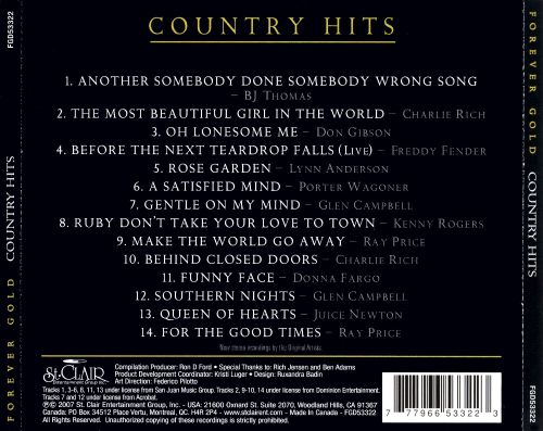 Forever Gold Country Hits St Clair 2 Various Artists Songs