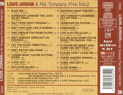 The Irresistible Mister Louis Jordan and His Tympany Five, Vol. 2
