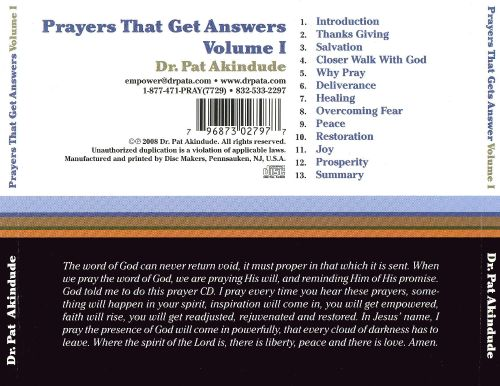 Prayers That Get Answers, Vol. 1