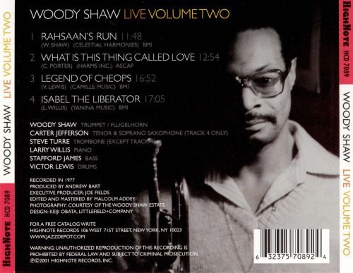 Woody Shaw Live, Vol. 2