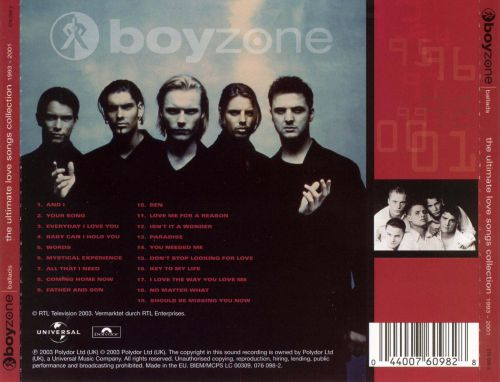 ballads ultimate love song collection boyzone songs reviews credits allmusic