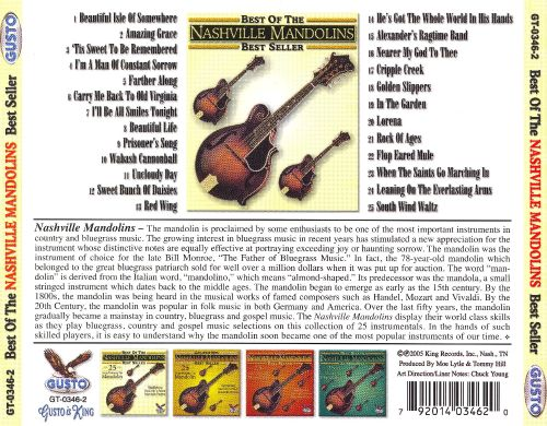 Best of Nashville Mandolins: 25 Songs