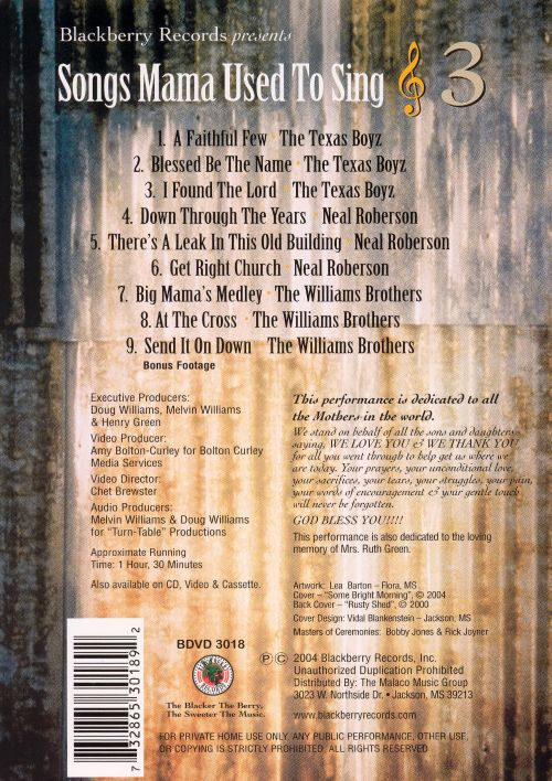 Songs Mama Used to Sing, Vol. 3 [Video/DVD]