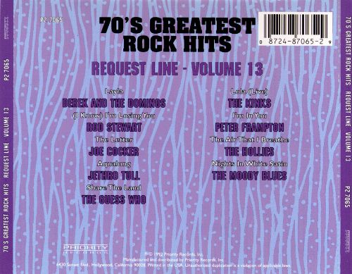 70's Greatest Rock Hits, Vol. 13: Request Line
