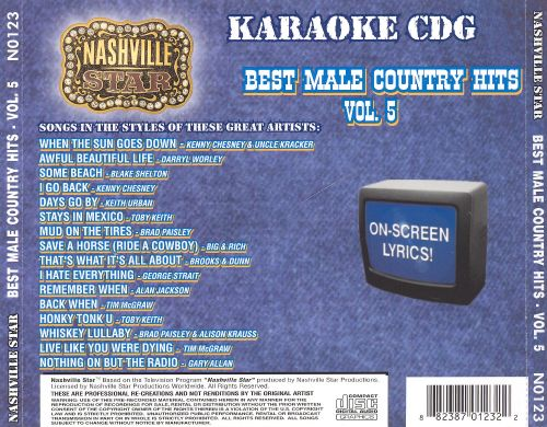 Nashville Star Best Male Country, Vol. 5