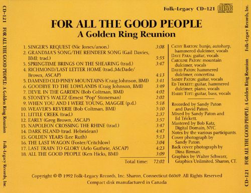 For All the Good People: A Golden Ring Reunion