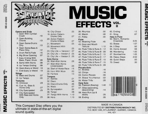 Music Effects, Vol. 2