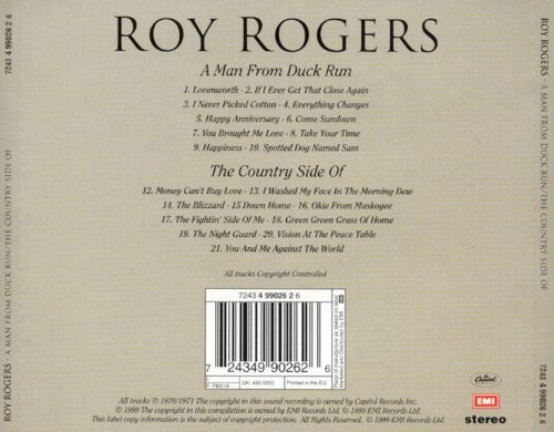 A Man from Duck Run/The Country Side of Roy Rogers