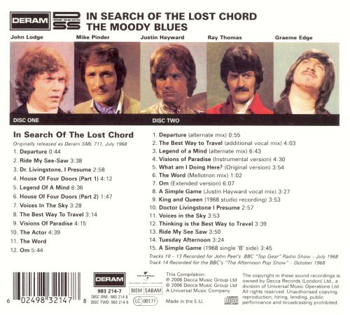 In Search Of The Lost Chord Deluxe Edition The Moody Blues