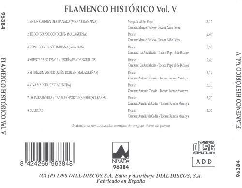 Flamenco Histórico, Vol. 5