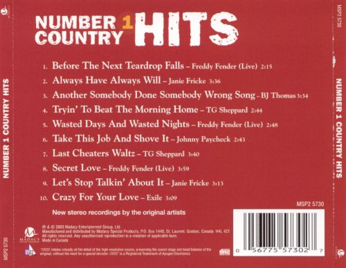 Number 1 Country Hits [Red]