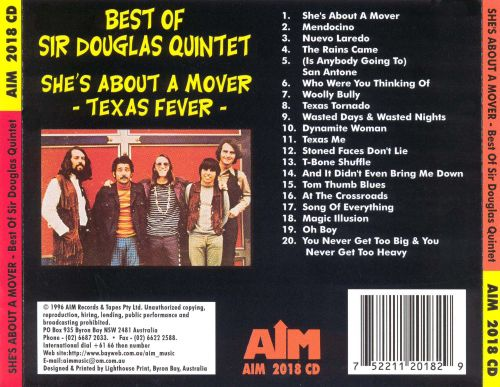 Texas Fever: Best of Sir Douglas Quintet