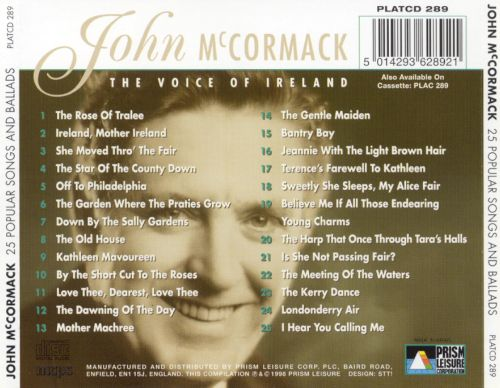 The Voice of Ireland: 25 Popular Songs and Ballads