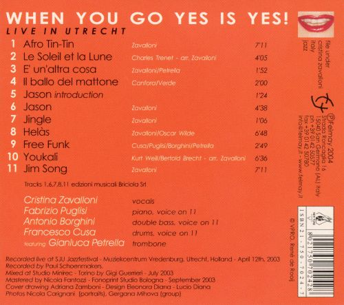 When You Go Yes Is Yes!