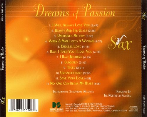 Sax: Dreams of Passion