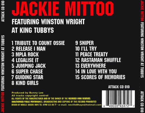Jackie Mittoo Featuring Winston Wright at King Tubbys