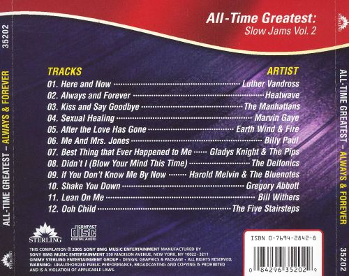 Always & Forever: All Time Greatest Slow Jams, Vol  2