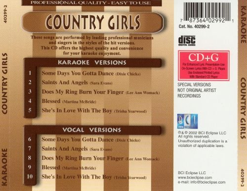 Songs Made Famous by Country Girls