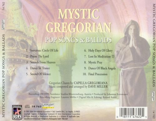 Mystic Gregorian Pop Songs & Ballads [Laser Light 14762]