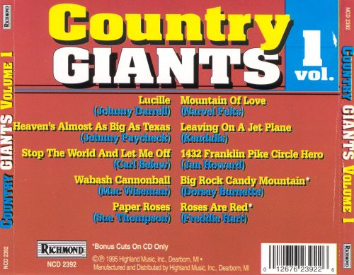 Country Giants, Vol. 1 [Richmond]