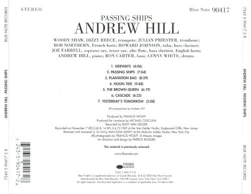 Passing Ships Andrew Hill Songs Reviews Credits Allmusic