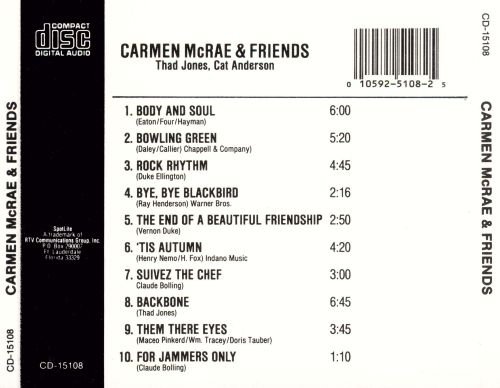 Carmen McRae & Friends