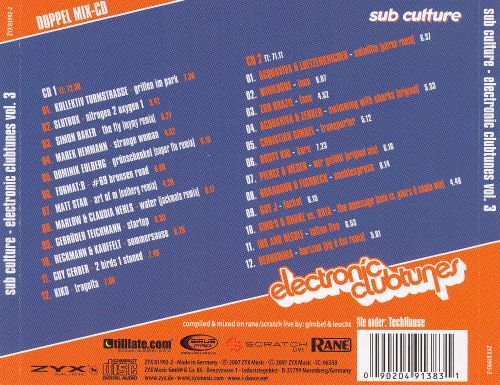 Subculture Electronic Clubtunes, Vol. 3