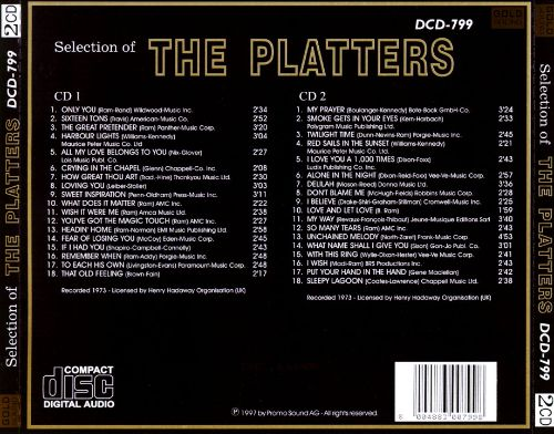 Selection of the Platters