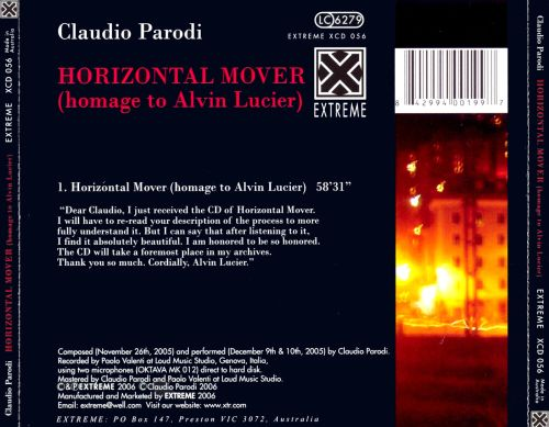 Horizontal Mover: Homage to Alvin Lucier
