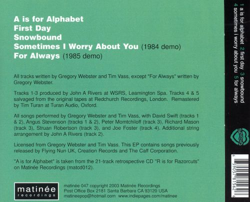 A Is for Alphabet EP