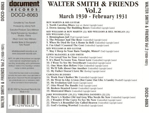 Walter Smith and Friends, Vol. 2 (1930-1931)