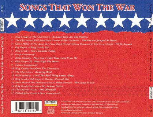 Songs That Won The War: They Can't Take That Away from Me