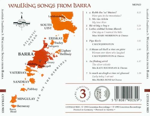Scottish Tradition, Vol. 3: Waulking Songs from Barra