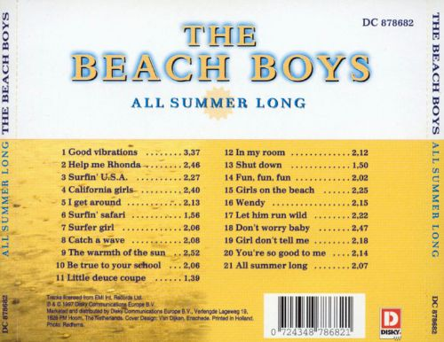 All Summer Long Compilation - The Beach Boys  Songs, Reviews, Credits  Allmusic-9526