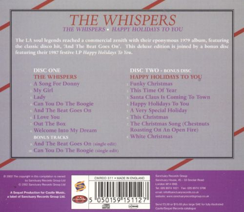 Whispers/Happy Holidays to You - The Whispers | Songs, Reviews ...