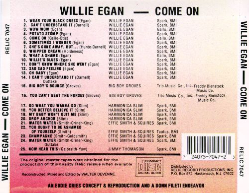 Come On: Early Recordings 1954-1958