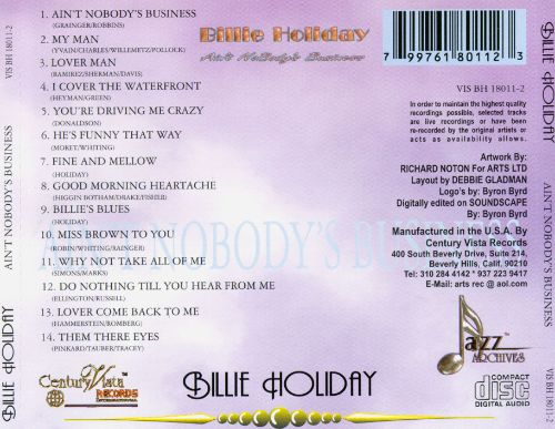 Aint Nobodys Business Billie Holiday Songs Reviews Credits