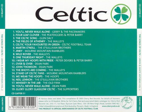 The Songs of Celtic, Vol. 2: Green and White Anthems
